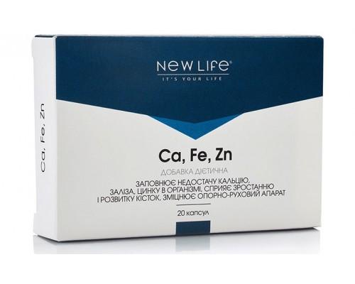 Добавка диетическая Ca, Fe, Zn (кальций, железо, цинк)