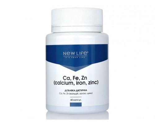 Добавка диетическая Ca, Fe, Zn (кальций, железо, цинк), 60капсул