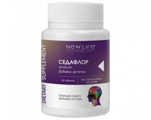 Добавка диетическая СЕДАФЛОР(SEDAFLOR), 60 таблеток – успокаивающее, для улучшения работы нервной и сердечно-сосудистой систем
